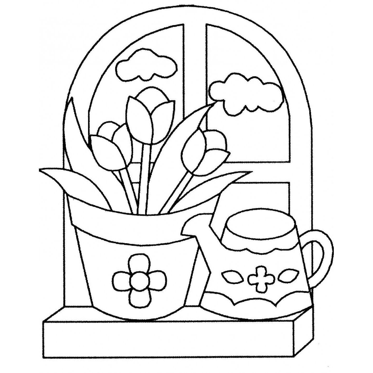 plantillas de flores para pintar en tela | DIBUJOS PARA COLOREAR ...