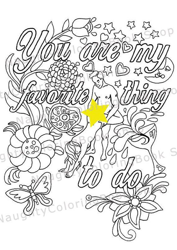 Adult Coloring Book, Adult Coloring Pages, Bachelorette Party, Swear ...