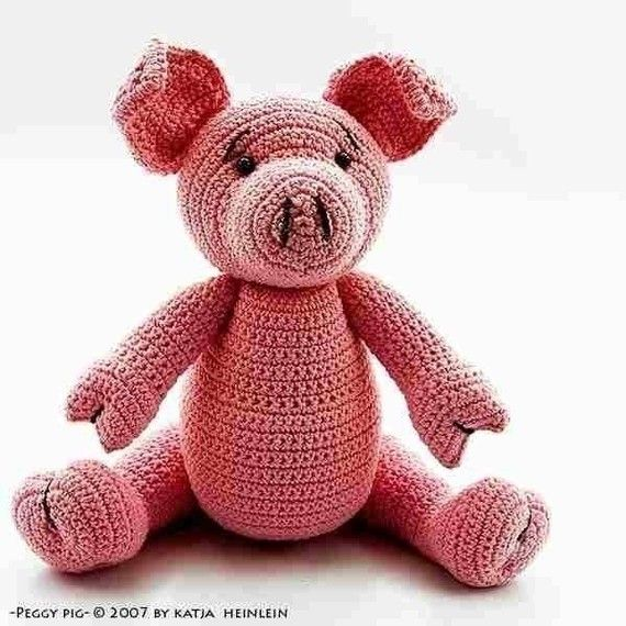 Peggy Pig crochet pattern, PDF tutorial by Katja Heinlein ...