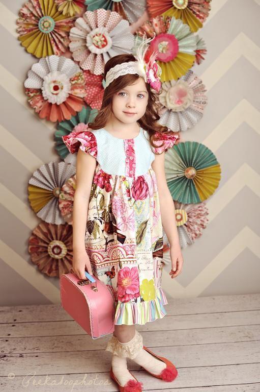 The Butterfly Flutter Dress Girls 2-8 | Solo Bimbi | Pinterest