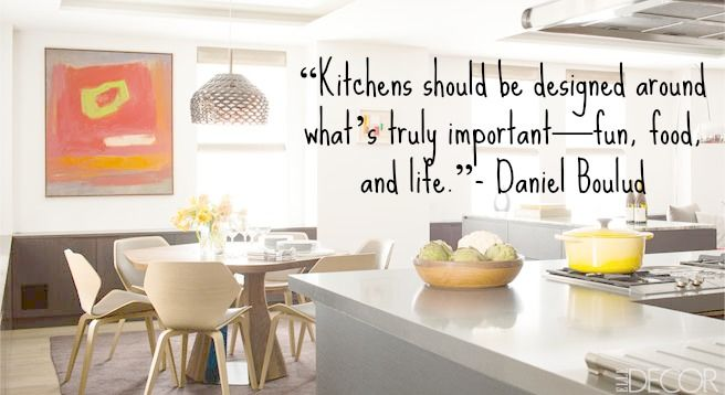 quote of the day: how to design a kitchen   kitchen design