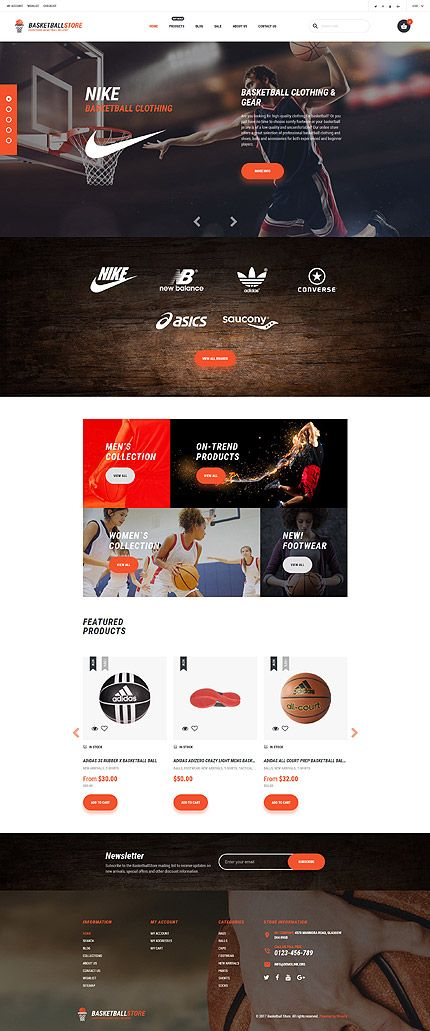 Basketball Online Store #Shopify #template. #themes #business ...