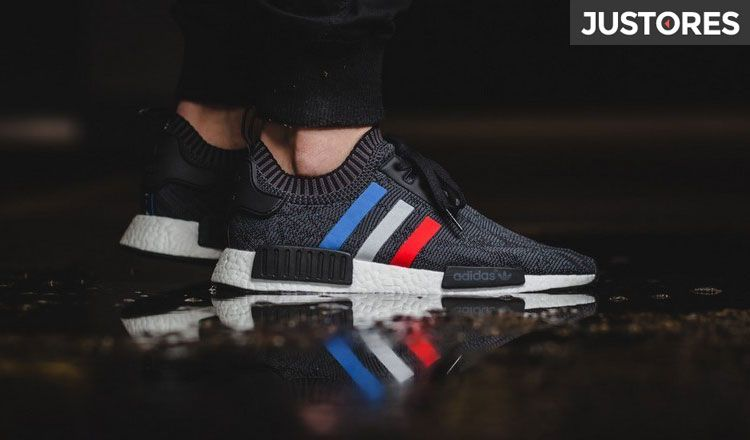 8996e6274e1a Adidas NMD r1 Primeknit Tricolor Black Runner couple running shoes BB2887