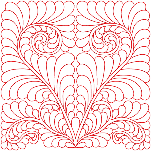 even though this is a digitized design, it is very doable free hand
