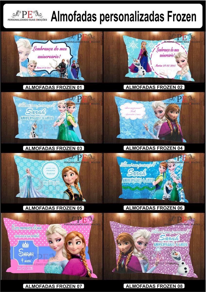 Almofadas personalizadas com o tema do filme Frozen. <br>Almofadas super macias confeccionadas em oxford e recheadas com fibra siliconada que proporciona um maior conforto. <br>Personalizamos com seu personagem favorito e com fotos. <br>Dimensões da almofada:29x40. <br>Ótimo presente. <br>Entrega rápida.