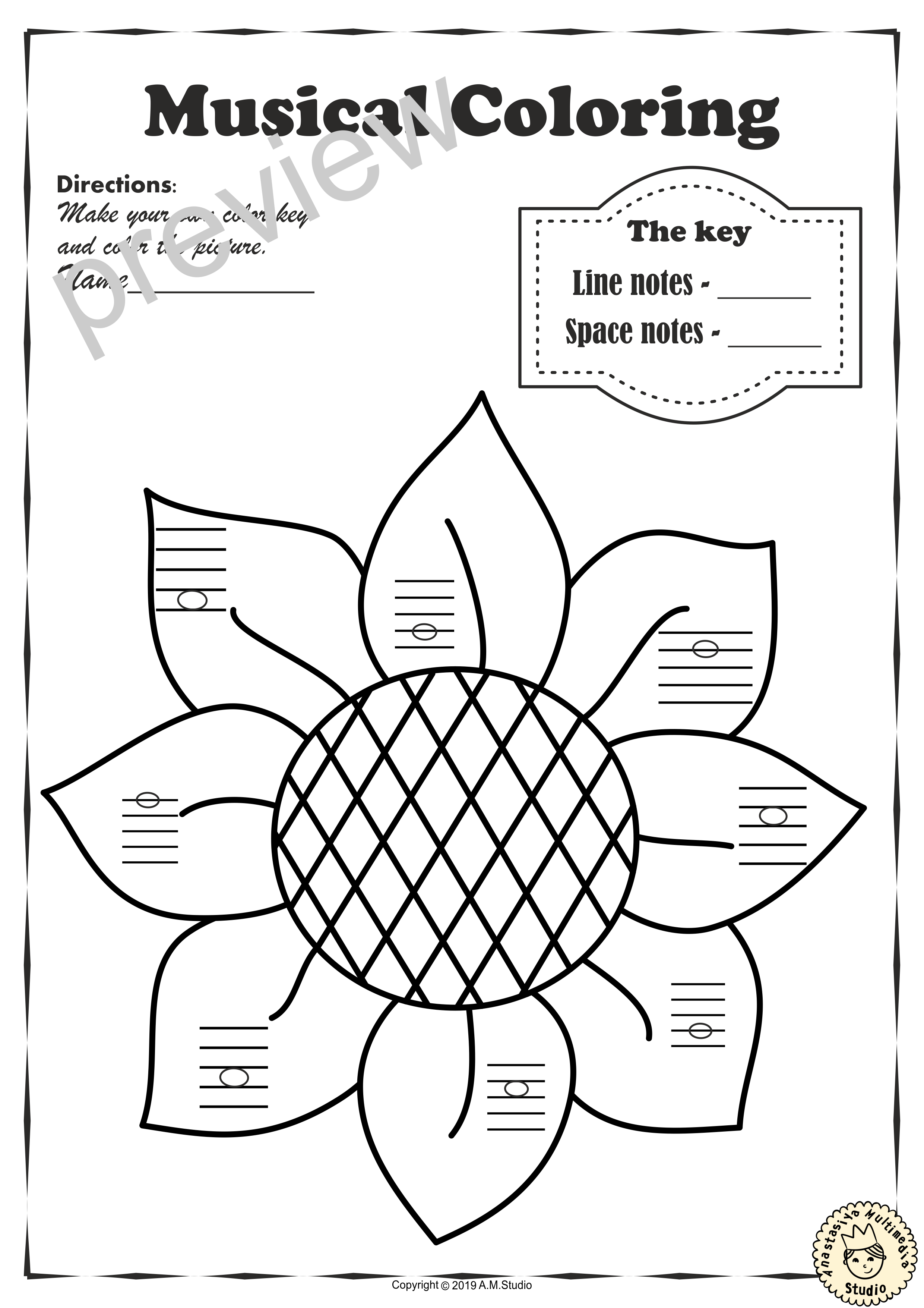 Musical Coloring Pages For Fall Lines And Spaces With Answers Music Lesson Plans Music Class Activities Coloring Pages