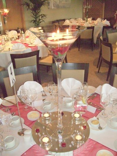 Cute Idea For Our Huge Margarita Glasses Tablescapes Center It