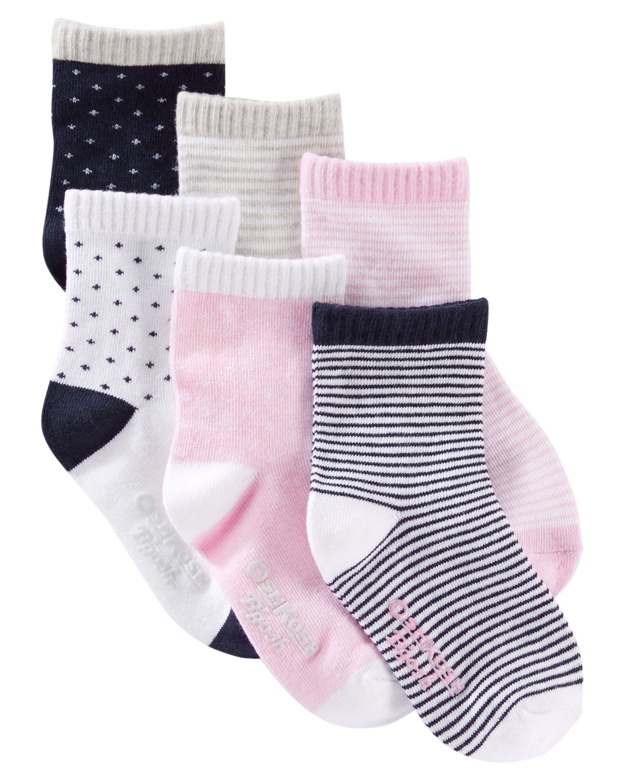 dab6a6897891 6-Pack Patterned Crew Socks