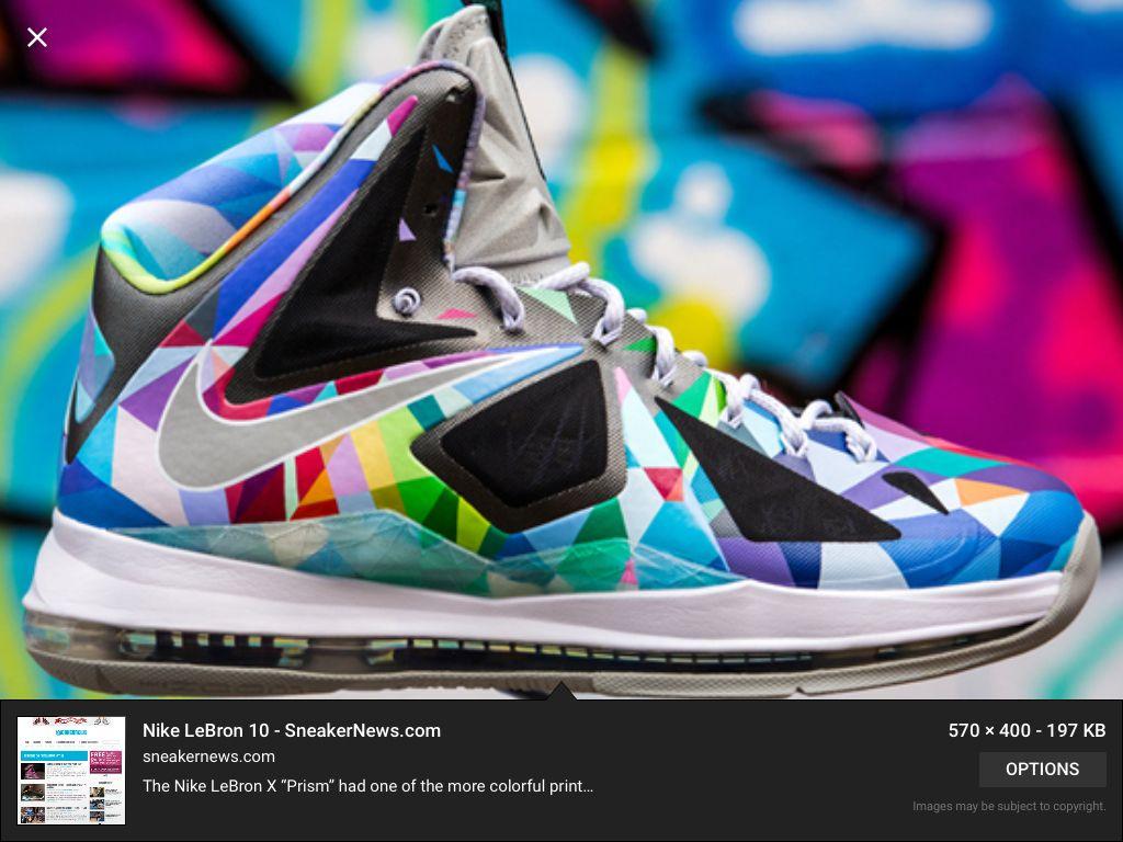 40921ed48470 Nike LeBron X  Shattered Prism  Customs Botas Nike