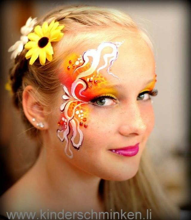 So pretty dancers face paint face painting ideas for Pretty designs to paint