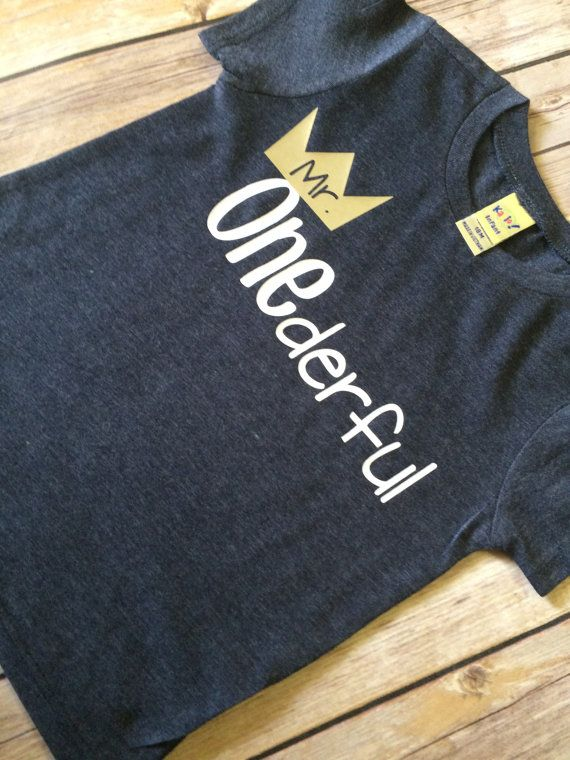 Mr Onederful First Birthday Shirt Boys One Year
