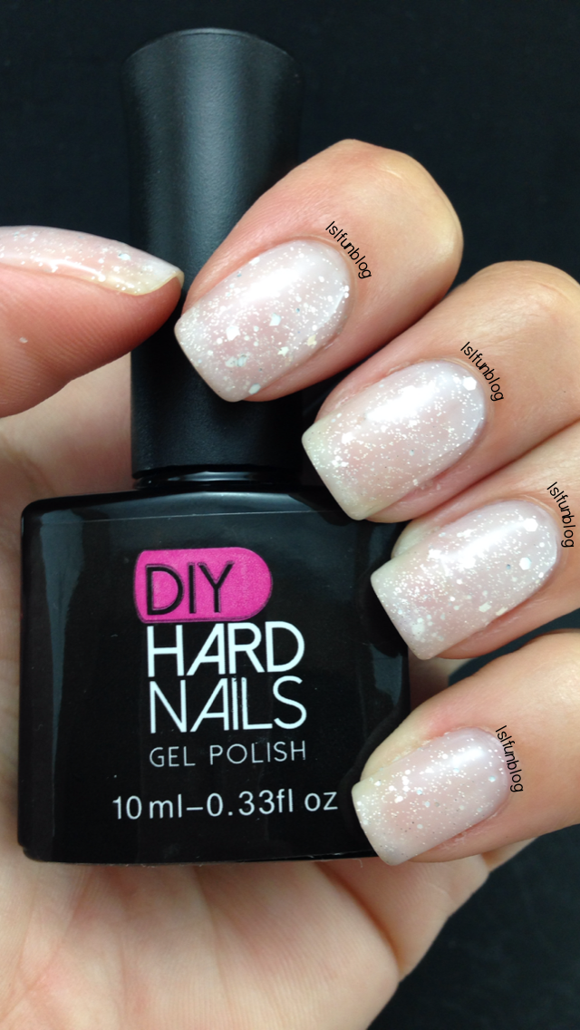 DIY Hard Nails Color Changing Gel Polish Pink Frost
