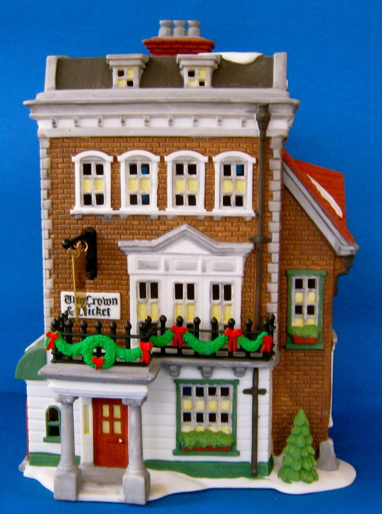 Dept 56 Dickens Village Crown And Cricket Inn 57509 Building Dept 56 Dickens Village Dickens Village Village