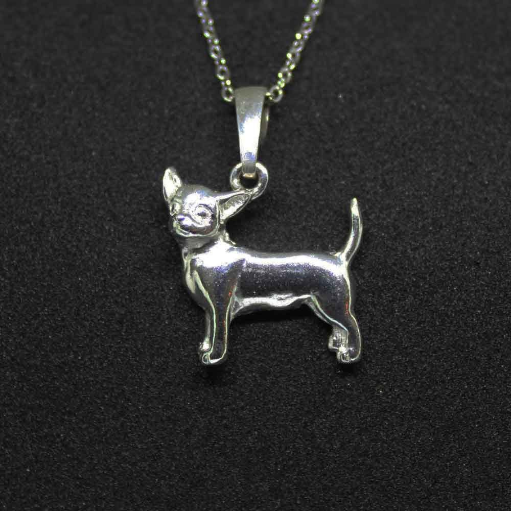 Fine Jewelry Personalized Chihuahua Sterling Silver Pendant Necklace VNR8SbtM