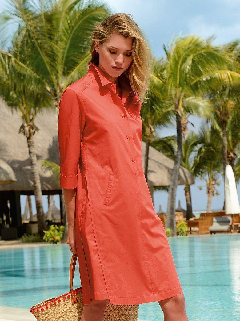Riani   Kleid mit 9/9 Arm   Mandarine   Mode, Riani kleid, Kleider ...