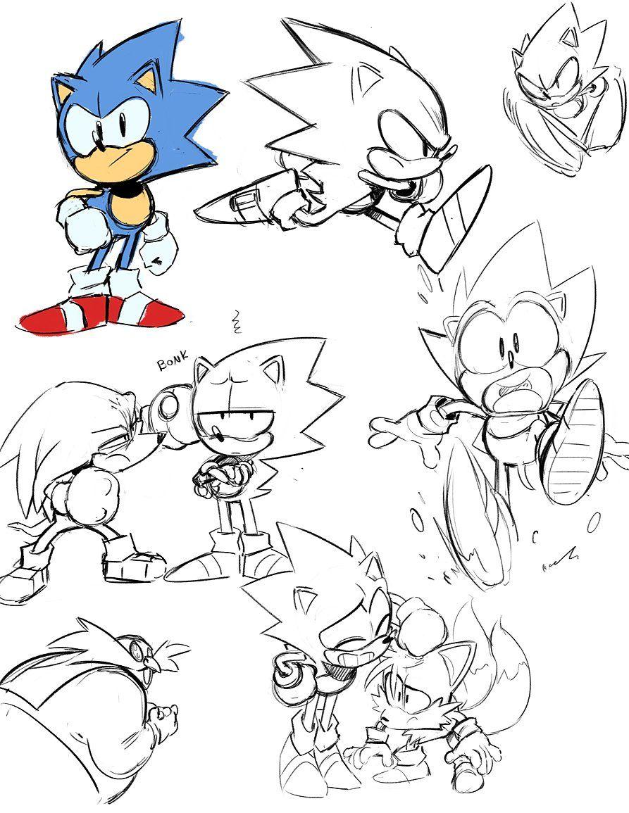 how to draw sonic comics