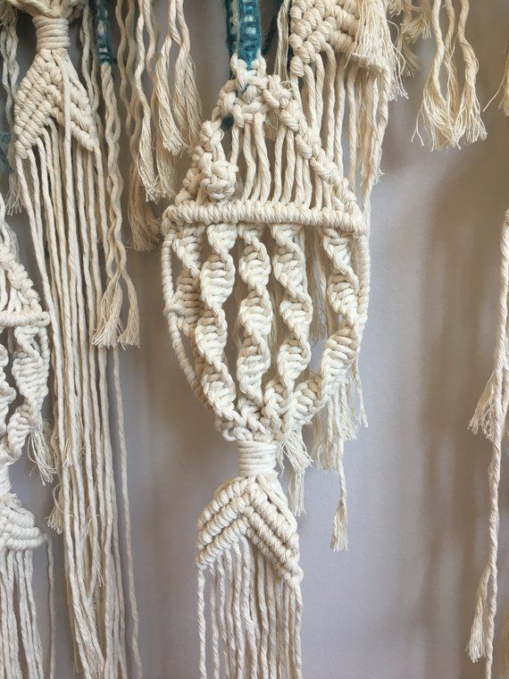 Macrame Fish Wall Hanging / Customizable Macrame Tapestry / Fish / Ocean /Fishing /Blue Ombre/Mobile /Beach House / Nursery / Boho/Over Bed