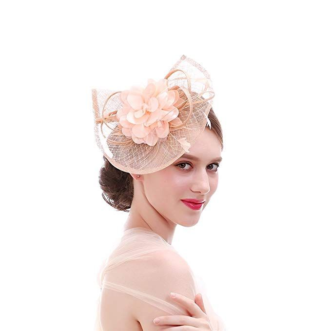 Ladies New Sinamay Feather Top Hat Fascinator Special Occasion Races