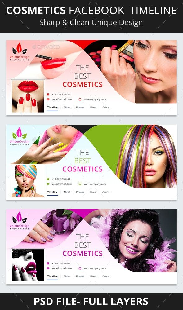 Cosmetics Facebook Timeline | Facebook cover design ...