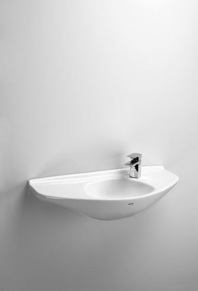 Shop For The Toto Cotton Wall Mounted Bathroom Sink With Single Faucet Hole  Drilled And SanaGloss Ceramic Glaze And Save.