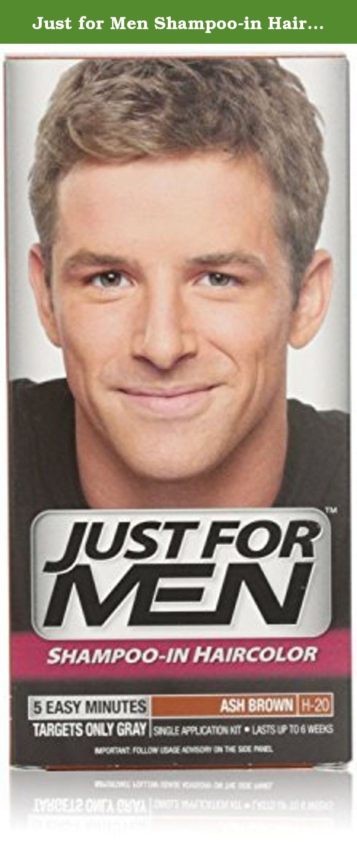 Just For Men Shampoo In Hair Color Ash Brown H 20 1 Application