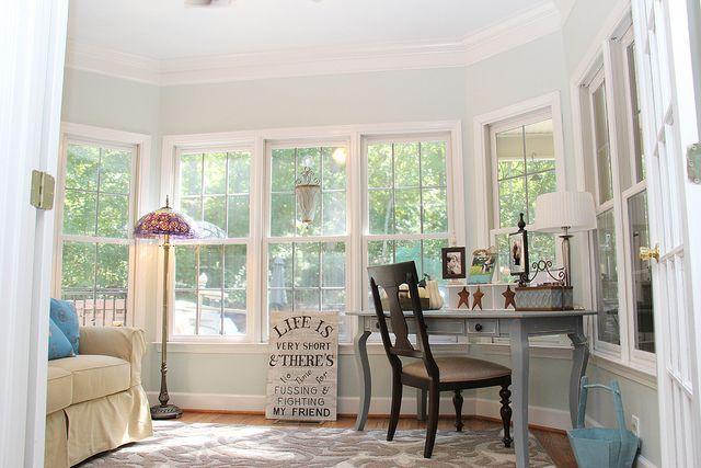 My Favorite Room The Sunroom Office Home Sunroom Office Sea Salt Sherwin Williams