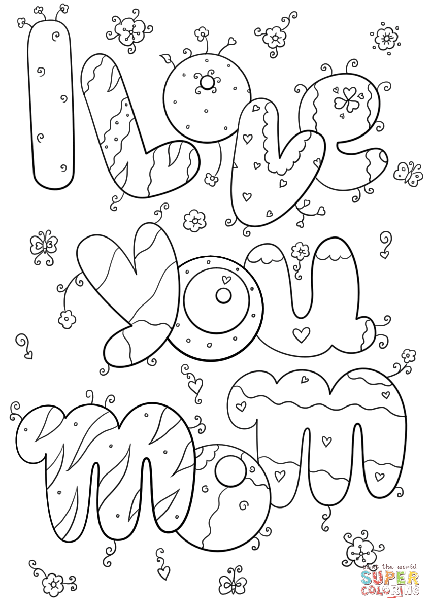 people of a mom coloring pages | I Love You Mom coloring page | Free Printable Coloring ...