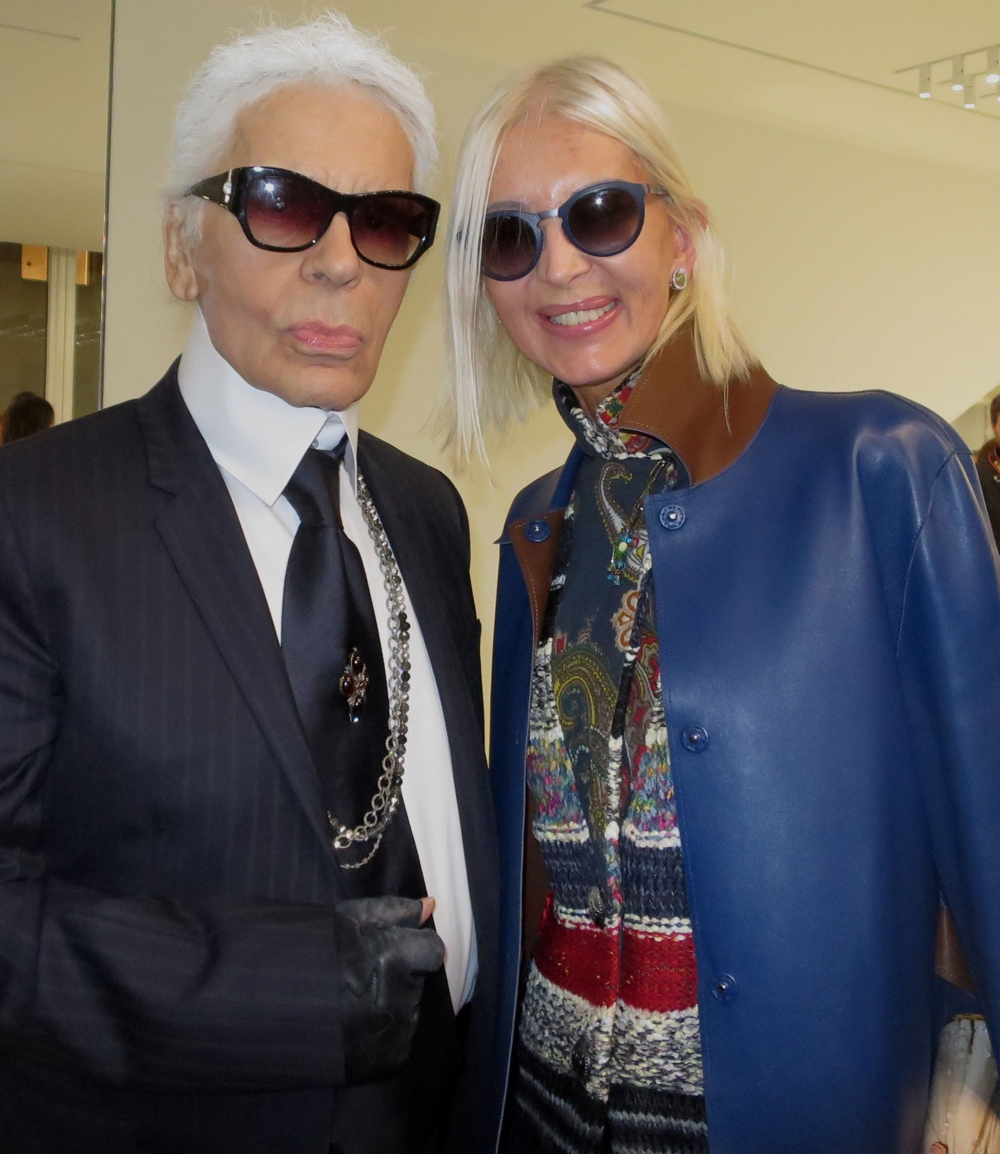 DIOR HOMME Private Party with KARL LAGERFELD and ANNE De CHAMPIGNEUL