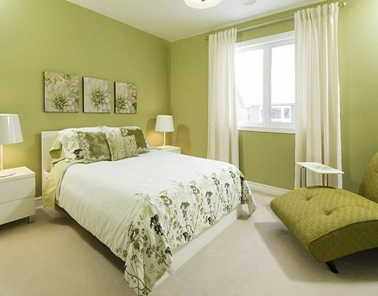 Wall Decor Attractive Bedroom Decorating Ideas Light Green Walls ...