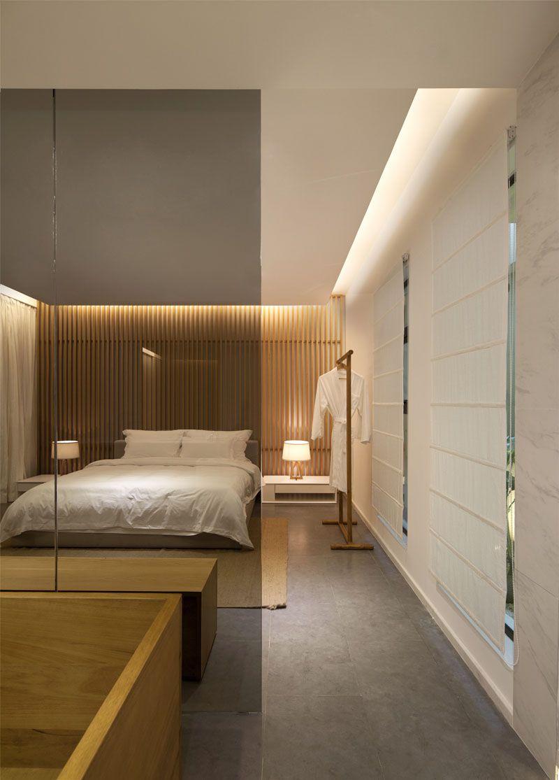 Bedroom Wall Design Idea Create A Wood Slat Accent Wall Feature Wall Bedroom Bedroom Wall Designs Wooden Wall Design