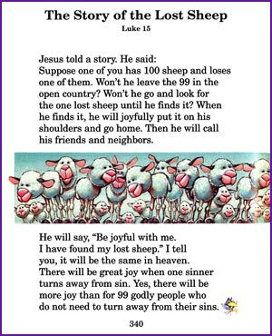 We Can Do Lots More For Students With >> Story Of Lost Sheep Jesus Parables Kids Korner