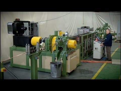 Meltech continuous rotary extrusion machine - YouTube
