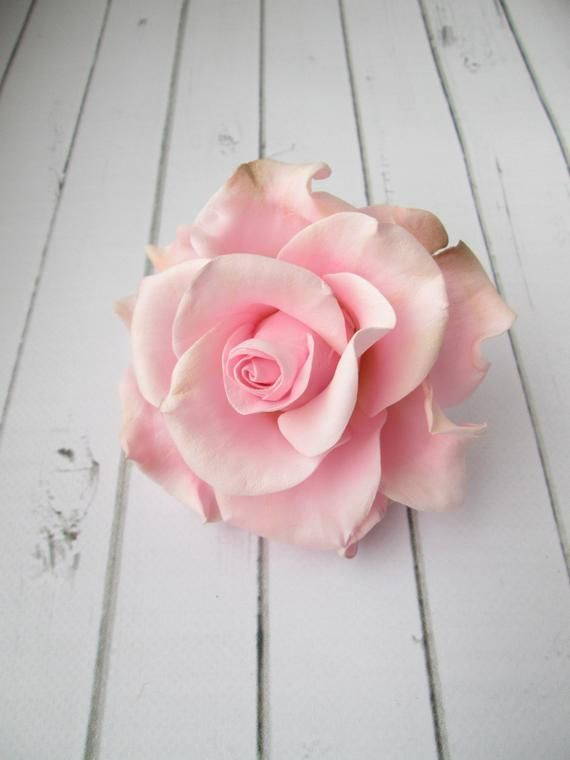 Pink Rose Hair Pin  Flower Wedding Hair Pin  Rose Bridal | Etsy