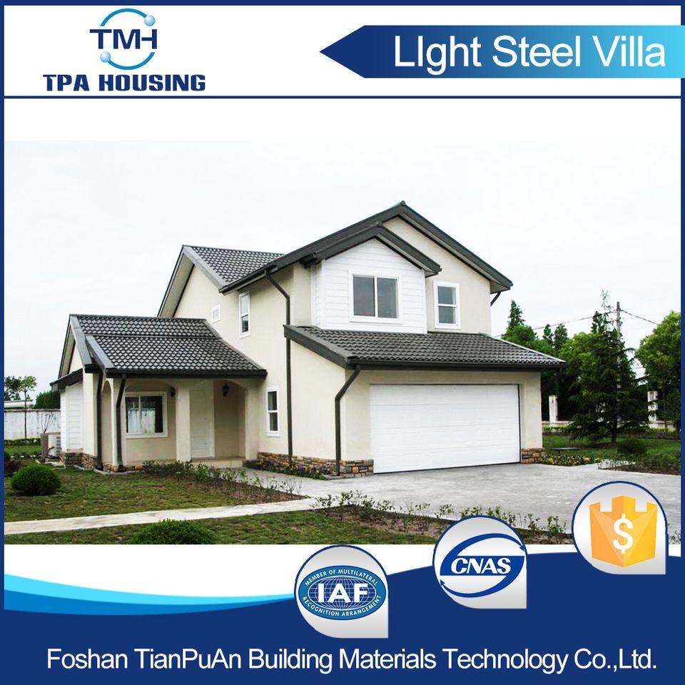 Steel Construction Prefabricated Villa Designs Modern Prefab House ...