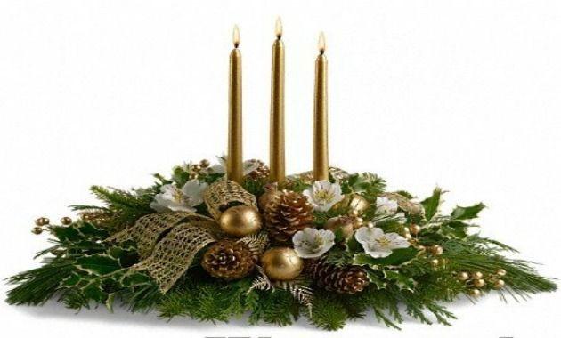 Materiales velas blancas rojas y verdes de distintos - Centros de mesas navidenos ...