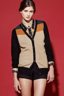 Color Block Cardigan Sweater http://thriftedandmodern.com/color-block-cardigan-sweater
