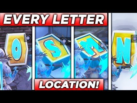 Search The Letter O S M N All Locations Fortnite Pleasant Park