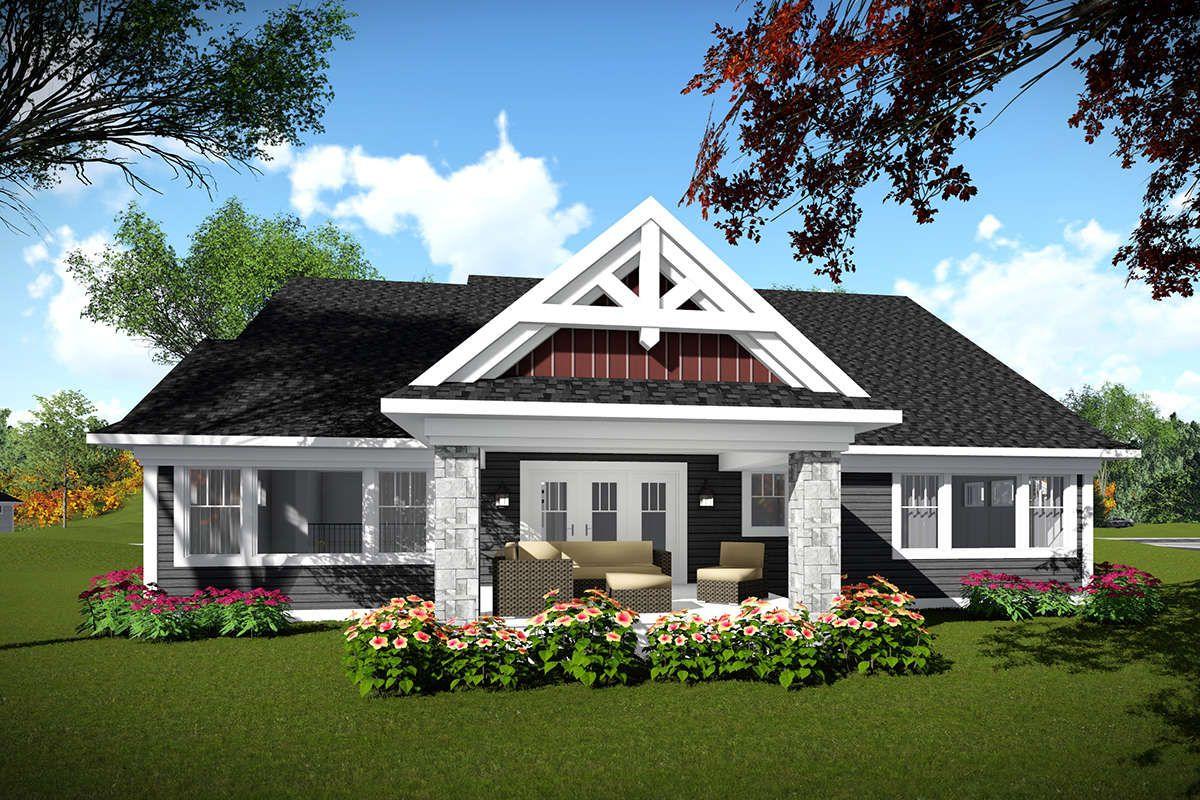 Craftsman Plan: 2,224 Square Feet, 2 Bedrooms, 2 Bathrooms – 1020-00013