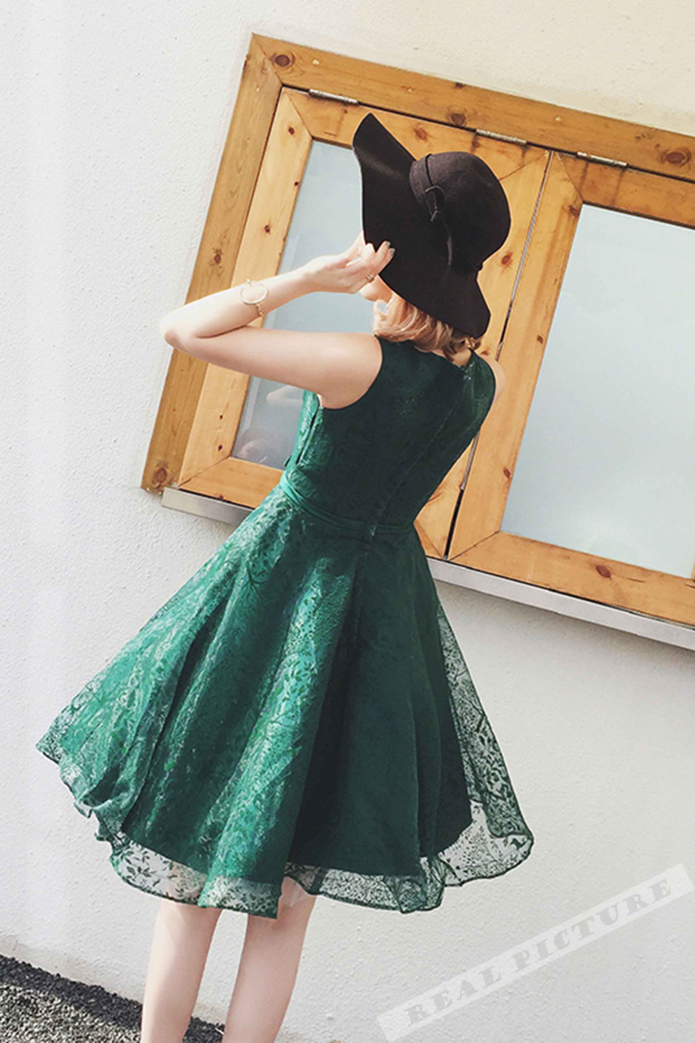 Green tulle prom dress homecoming party dress short prom dress for