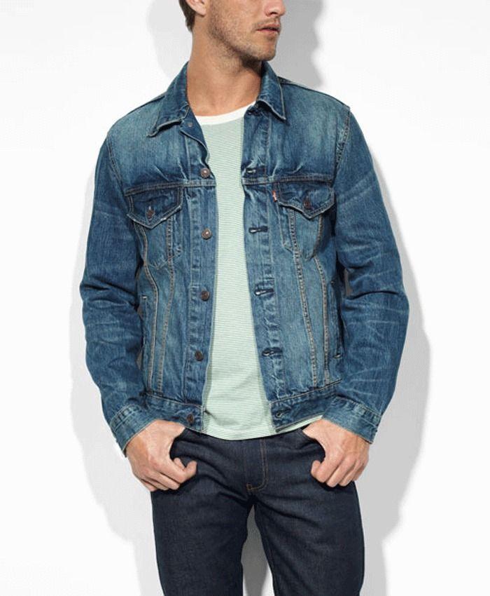 New Levi S Mens Whiskered Medium Wash Authentic Trucker Denim Jean Jacket Sz Xxl Trucker Jacket Outfit Shop Mens Jeans Mens Outfits