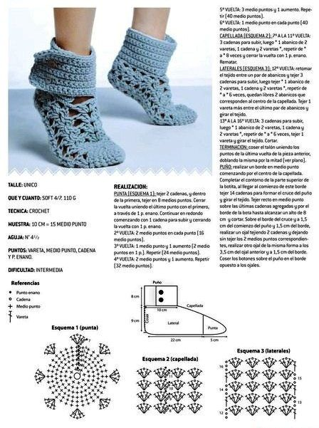 Pantuflas crochet patrón - Imagui | botas | Pinterest | Patrones ...