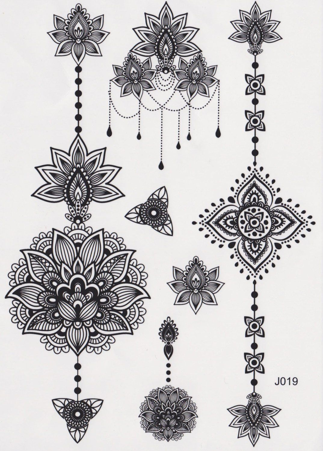 1d9e7a4f5 Aiyana Tribal Lotus Mandala Temporary Tattoo | Your Pinterest Likes ...