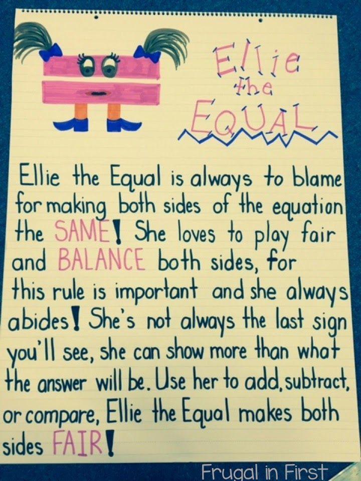Ellie the equal math Anchor Chart Anchor Charts Pinterest Math