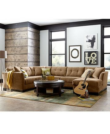 Elliot Fabric Sectional Living Room Furniture Collection macyscom