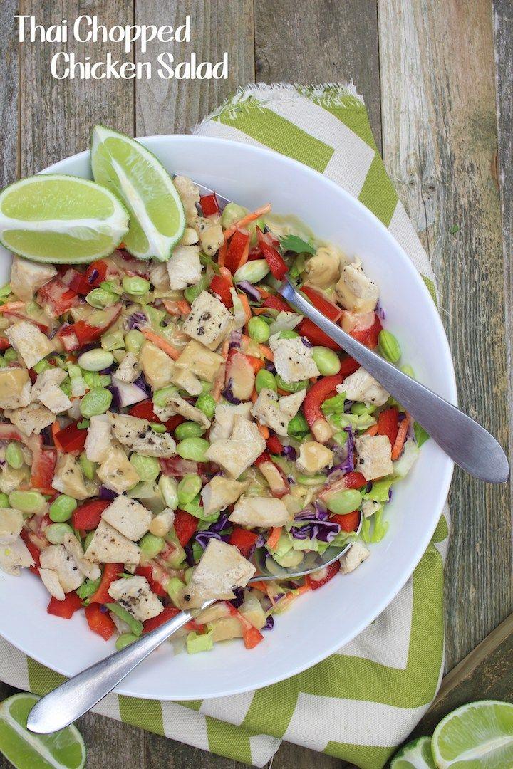 Thai Chopped Chicken Salad Recipe Simply Sissom On The Blog