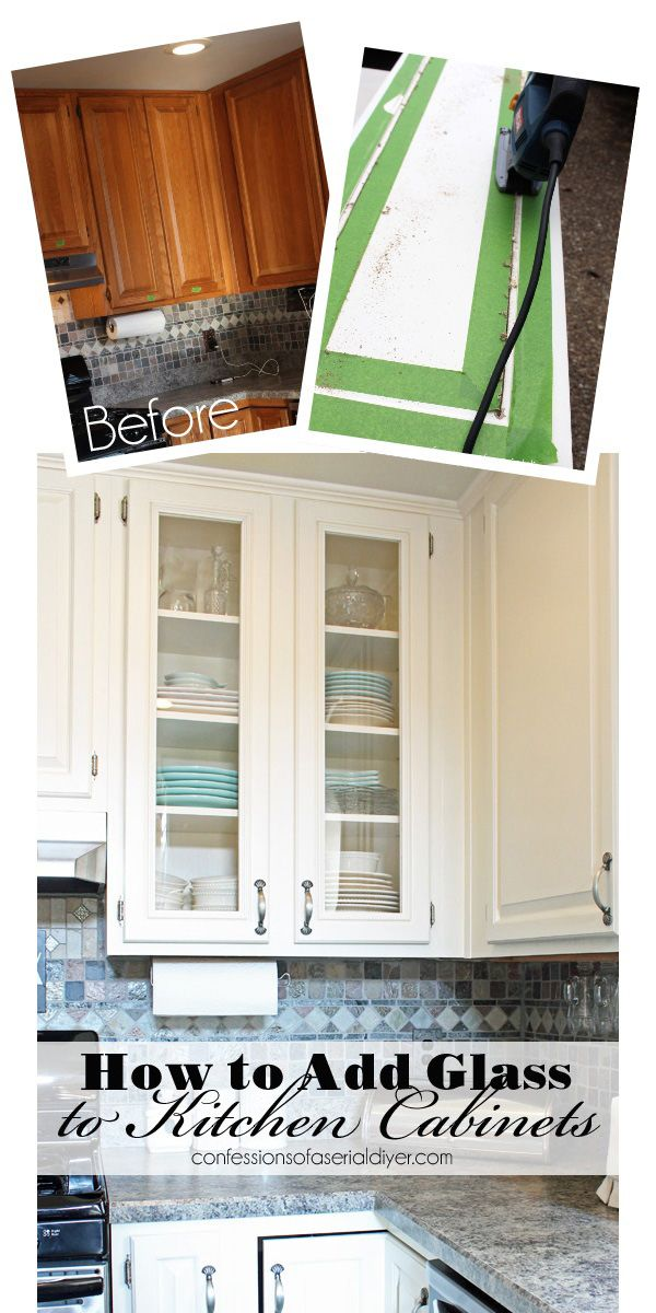 How To Add Glass To Cabinet Doors Cheap Kitchen Makeover Cabinet Door Makeover Kitchen Makeover