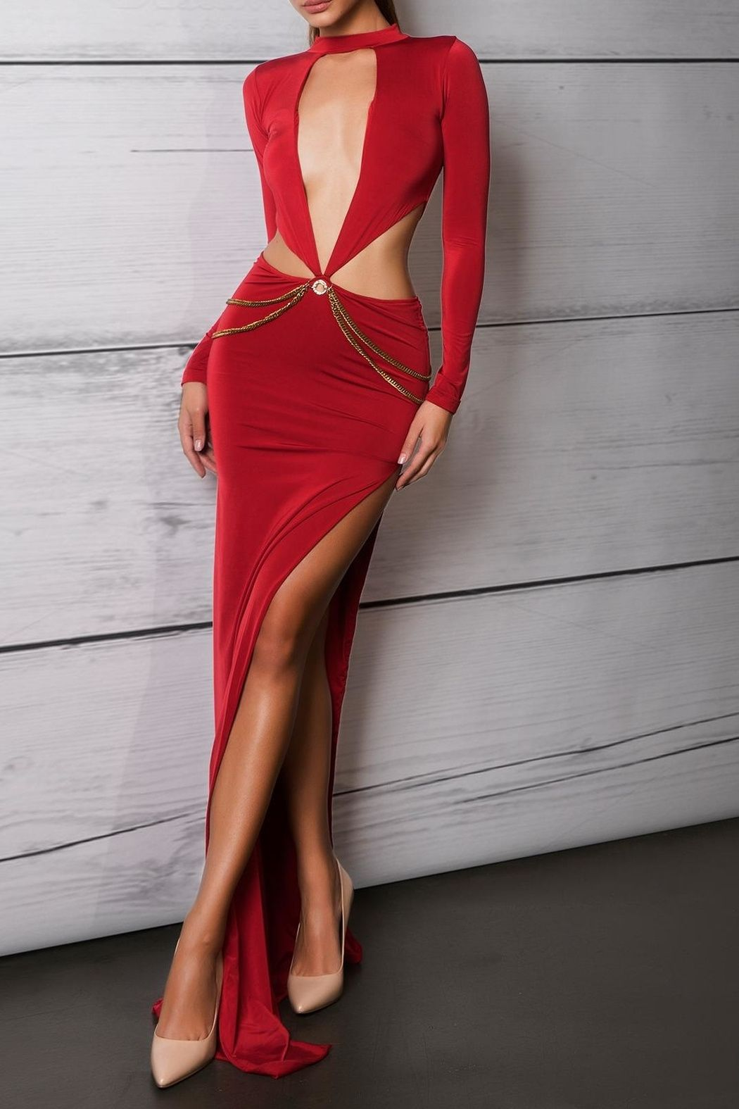 Savee couture red cut out dress red maxi dresses red maxi and choker
