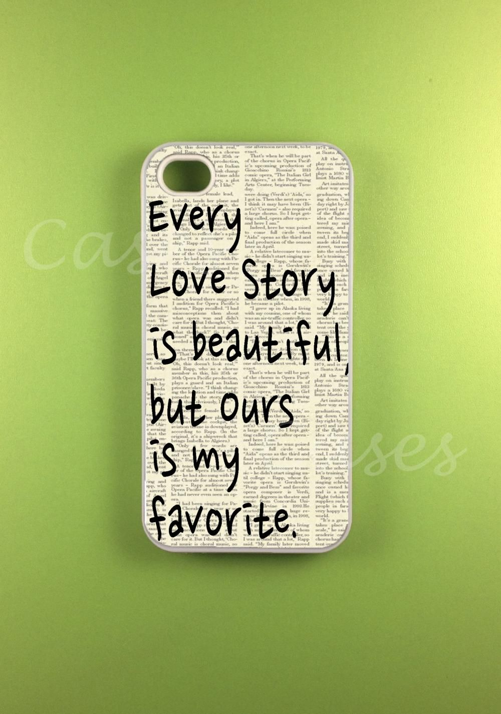 Iphone 4s Case - Our Story Iphone Case,