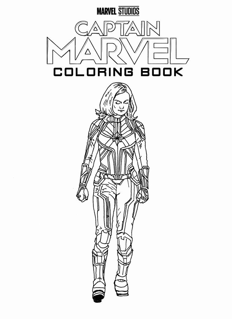 Captain Marvel Coloring Page New Hey Kids Now You Too Can Color Your Very Own Captain Captain America Coloring Pages Marvel Coloring Avengers Coloring Pages