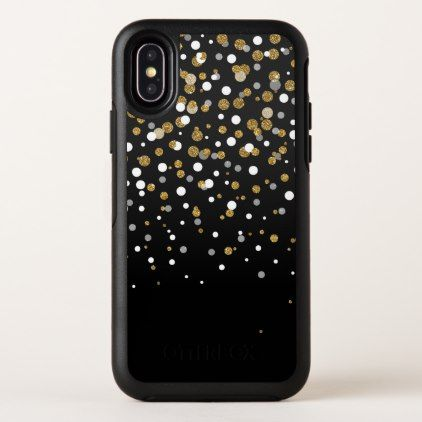 official photos 07086 08d0e Pretty modern girly faux gold glitter confetti OtterBox iPhone case ...